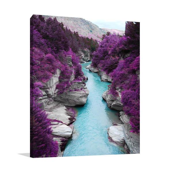 Purple Pine Forest Prints Canvas