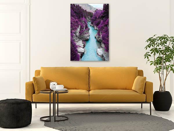 Purple Pine Forest Canvas Art Prints