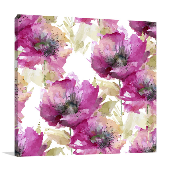 Purple Poppies Canvas Art