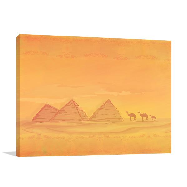Pyramid Of Giza Wall Art