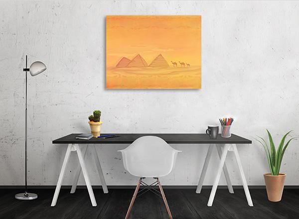 Pyramid Of Giza Print Artwork