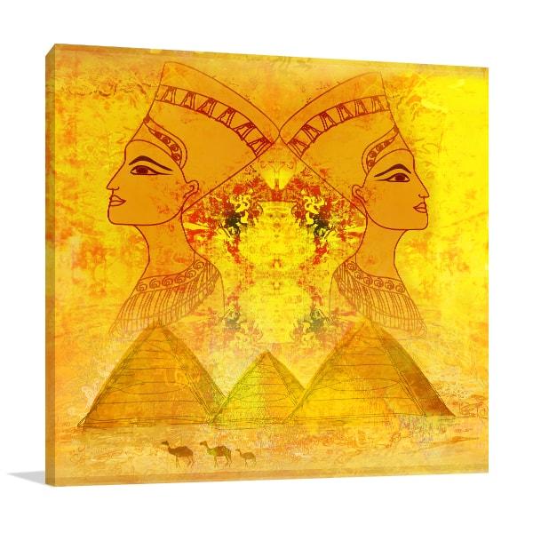 Queen Of Egypt Canvas Art