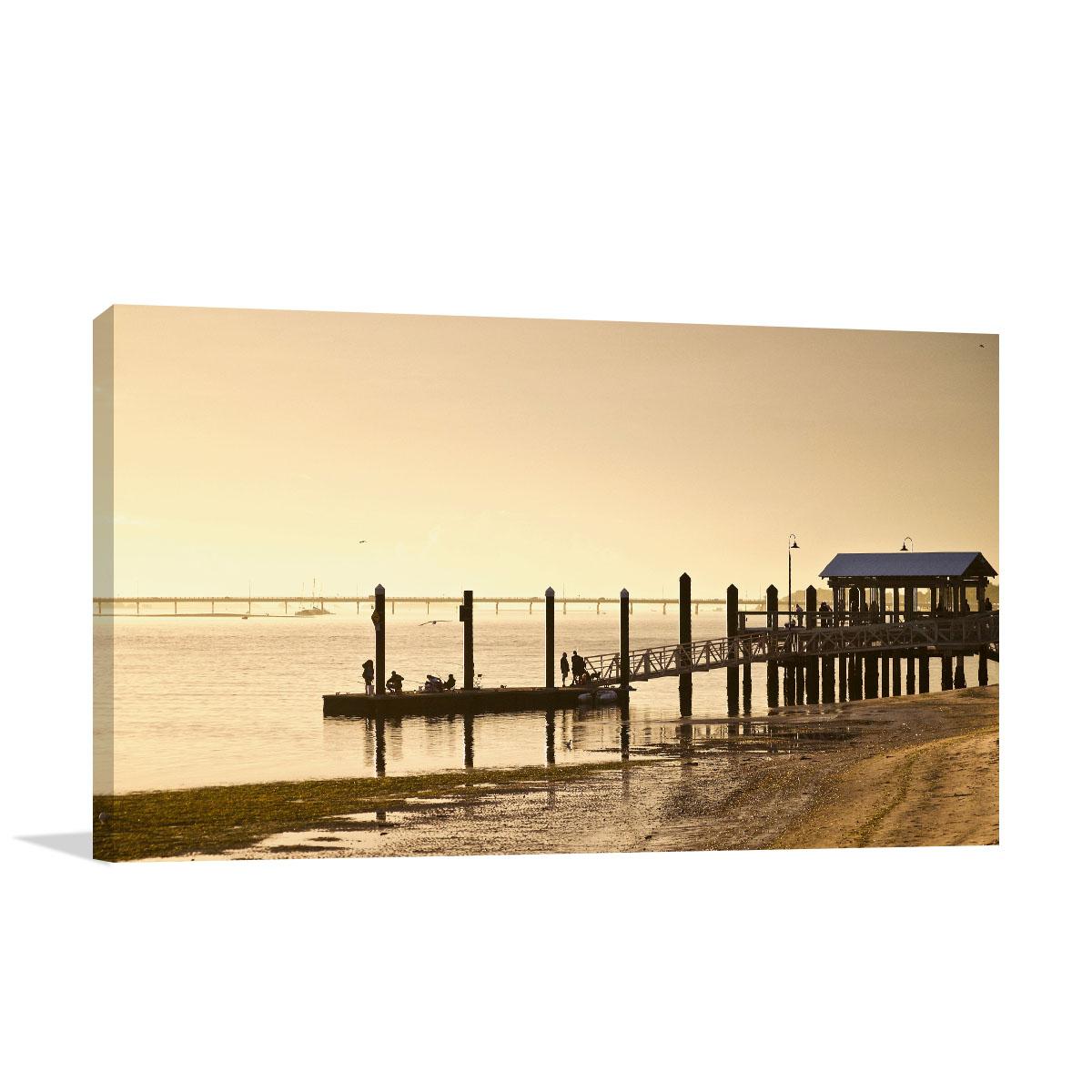 Queensland Art Print Bongaree Pier