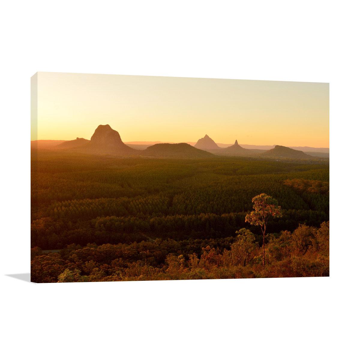 Queensland Art Print Glass House Mountains