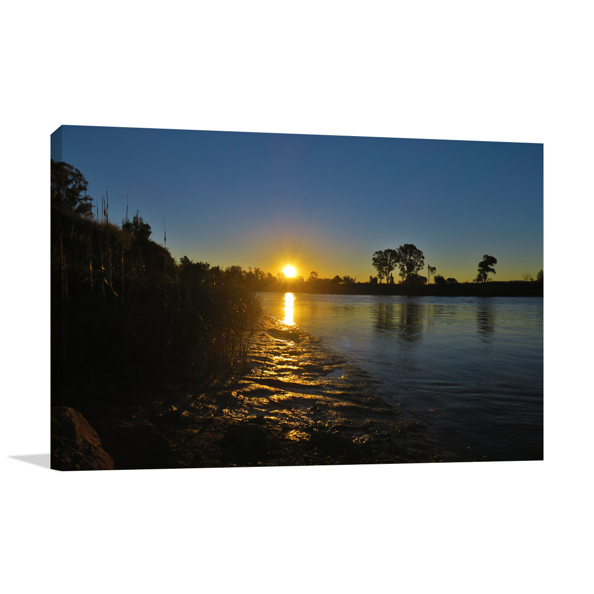 Queensland Art Print Sunset on the River