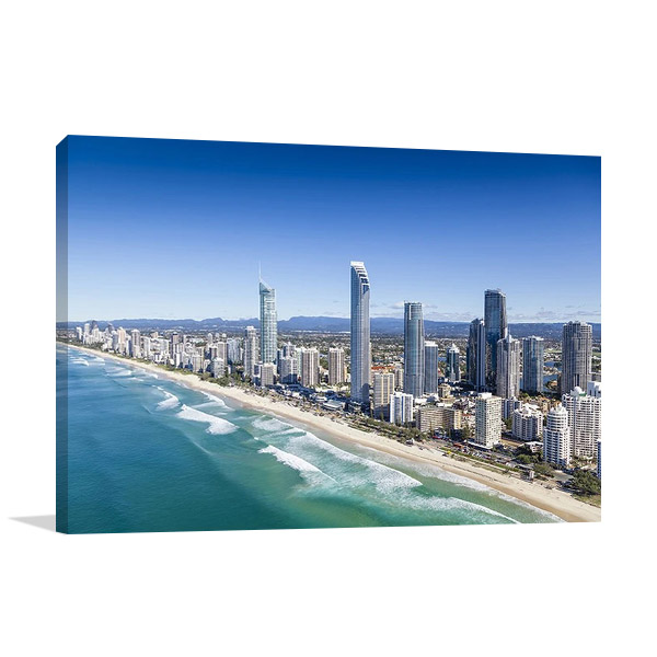 Queensland Surfers Paradise Wall Canvas Print
