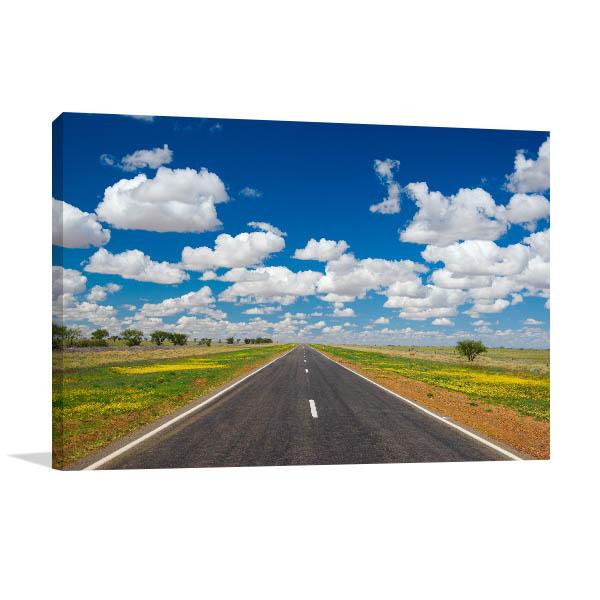 Queensland Wall Print Barkly Highway Picture Art