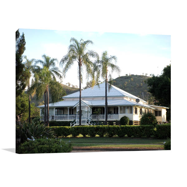 Queensland Wall Print Gayndah White House Picture Art