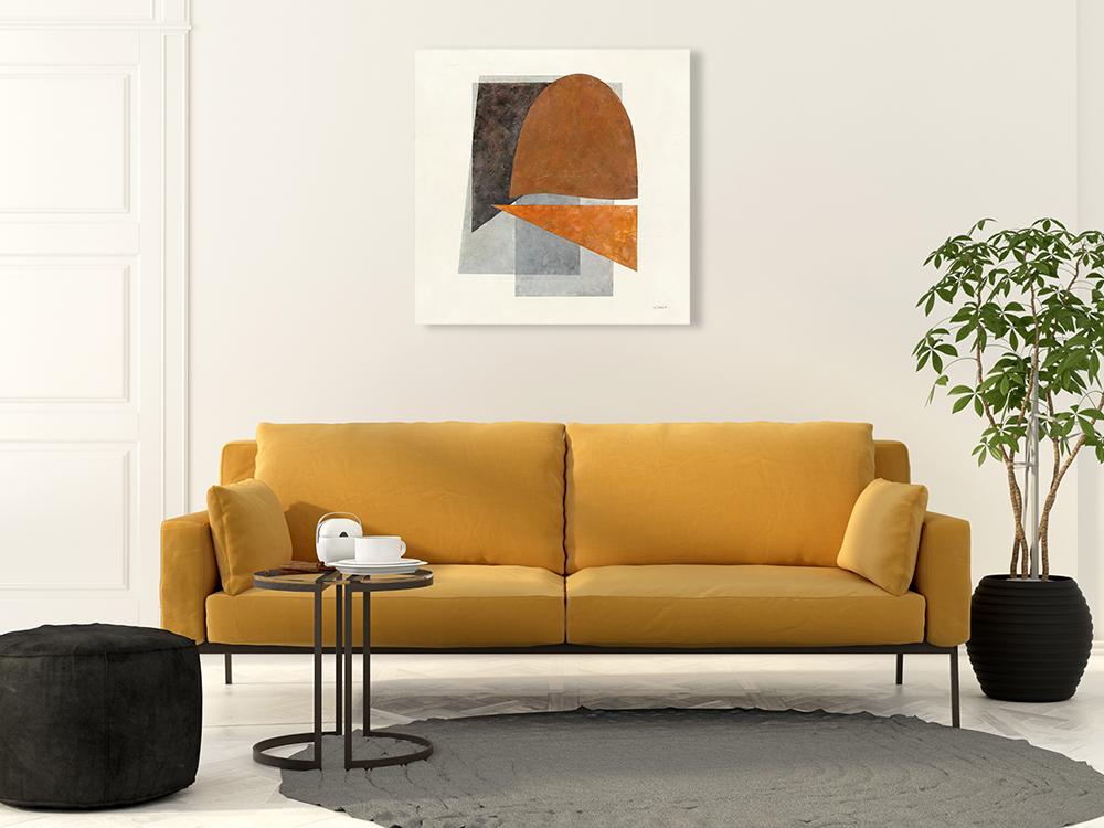 Shapeshift Square Print on Canvas