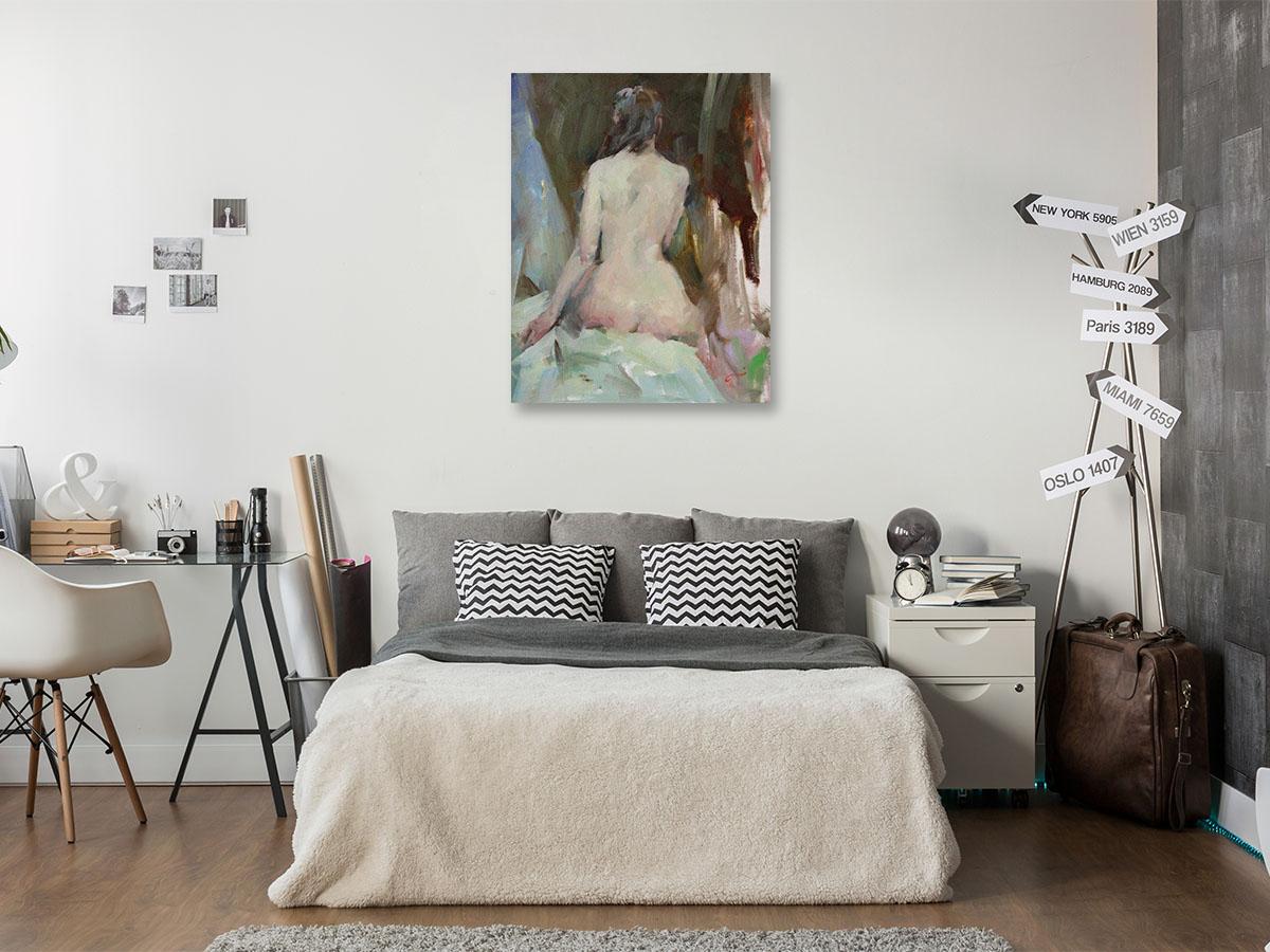 Li Zhou Paintings | Quite Moment II Print on Canvas| Wall Art
