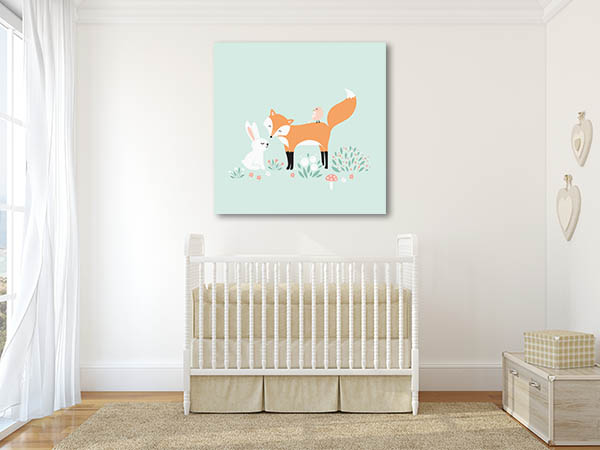 Rabbit And The Fox Canvas Prints