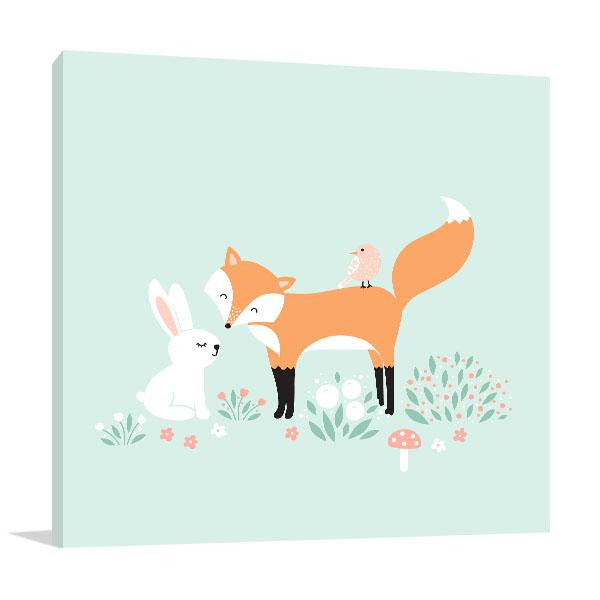 Rabbit And The Fox Art Prints