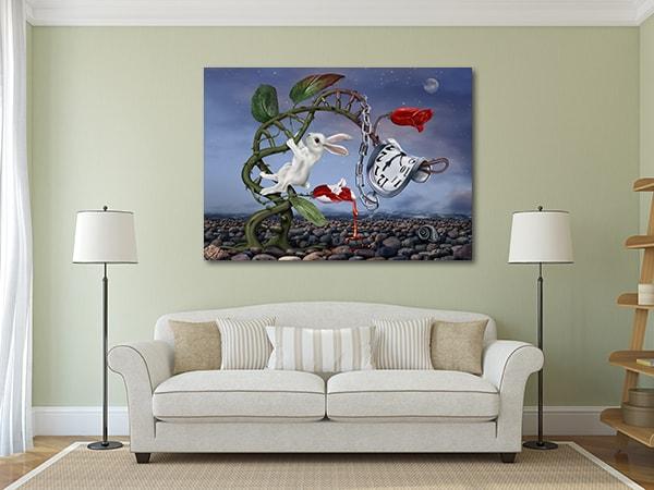 Rabbit in Vine Art Print