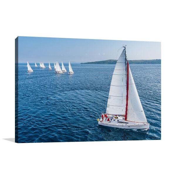 Racing Sail Boat Art Prints
