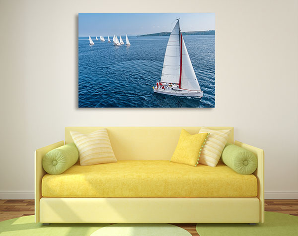 Racing Sail Boat Prints Canvas