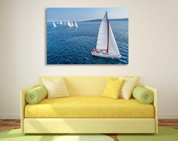 Racing Sail Boat Prints Canvas