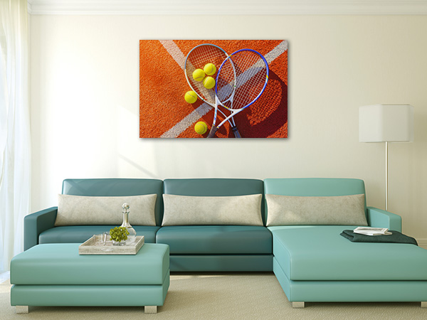 Racket and Tennis Ball Canvas Prints