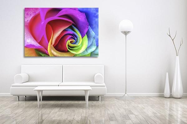 Rainbow Rose Print Artwork