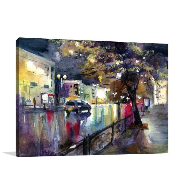 Rainy Evening Art Prints
