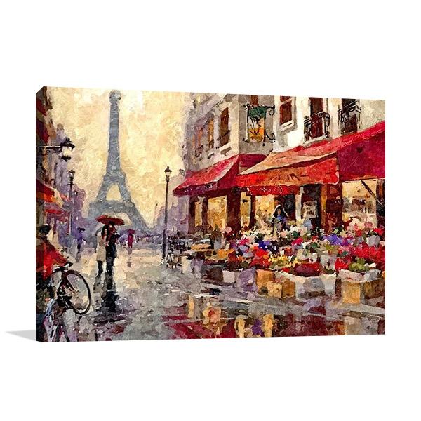 Canvas Print Paris Rainy Morning