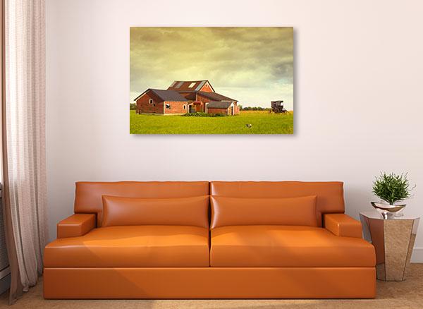 Rainy Sky Farm Canvas Prints