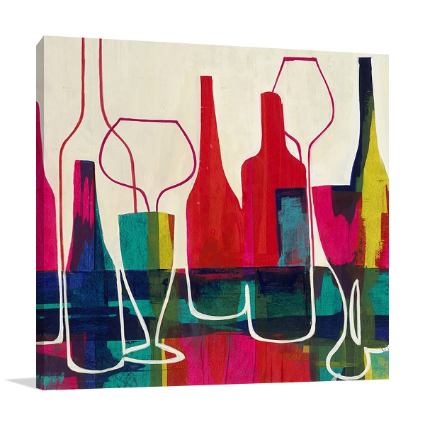 Raise Your Wine Glass Print on Canvas