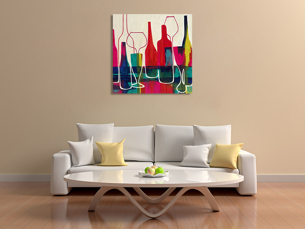 Abstract Drink Art on Canvas