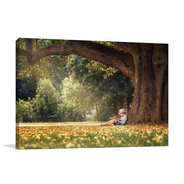 Reading Under the Tree Wall Art