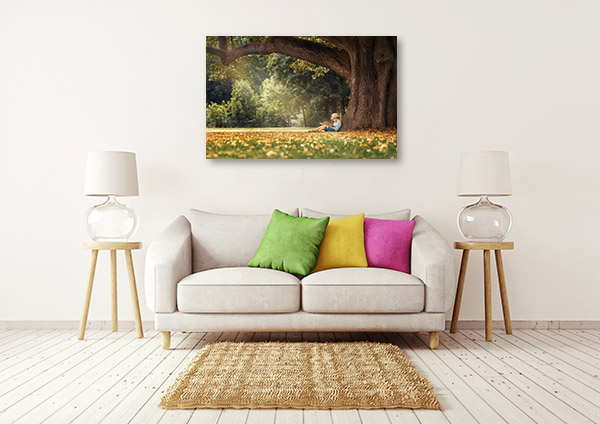 Reading Under the Tree Canvas Prints