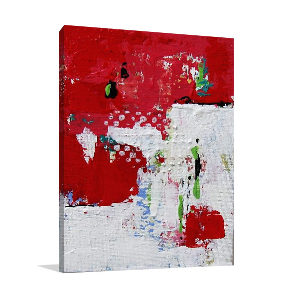 Brooke Howie | Red and White Abstract Print Wall Art