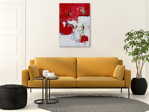 Brooke Howie | Red and White Abstract Print Art Canvas