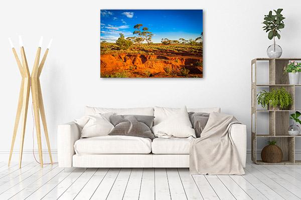 Red Banks Art Print Outback Canvas Artwork