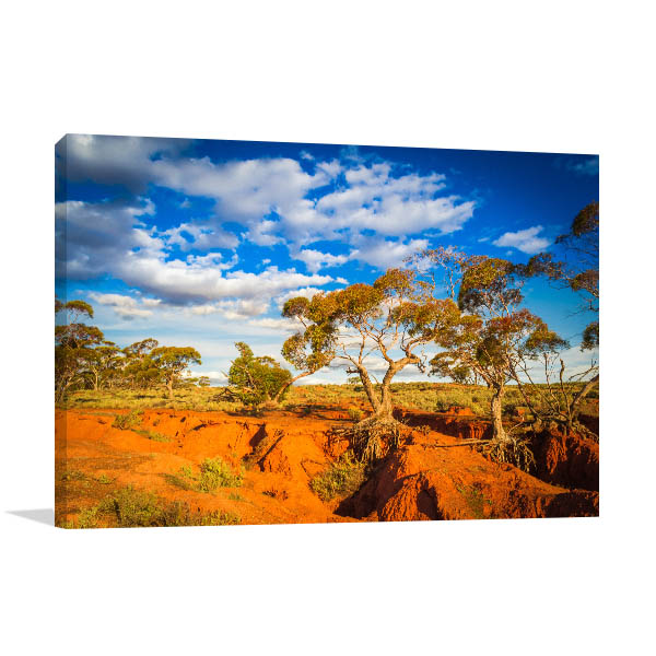 Red Banks Wall Print Outback Landscape Photo Canvas