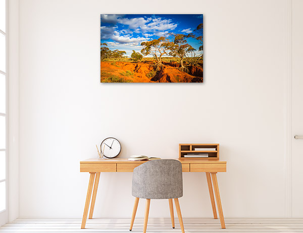Red Banks Wall Print Outback Landscape Canvas Photo