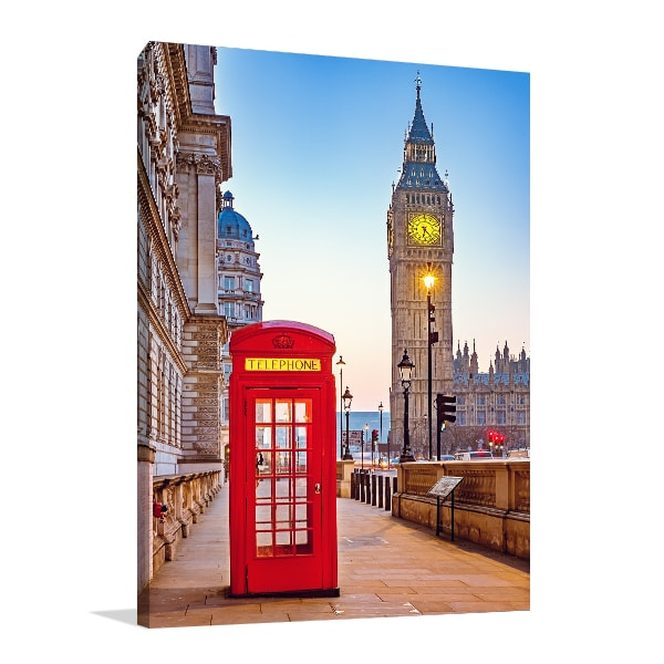 Red Booth Prints Canvas