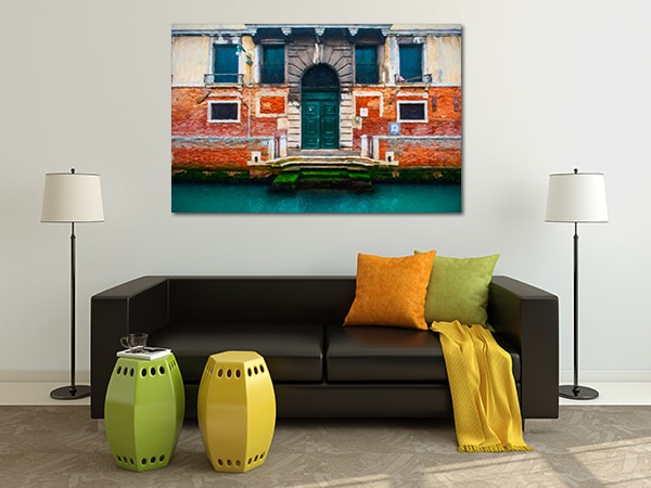 Red Brick Canvas Artwork on the Wall