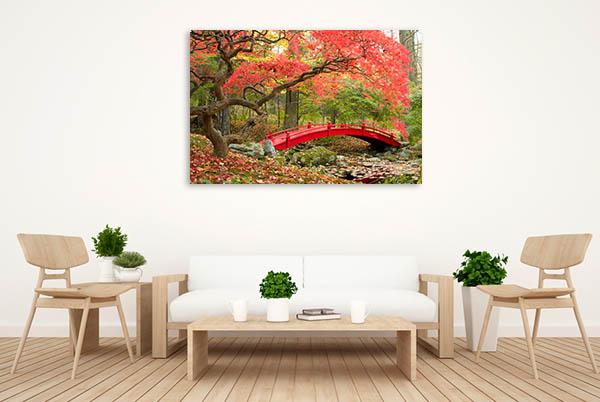 Red Bridge Canvas Prints