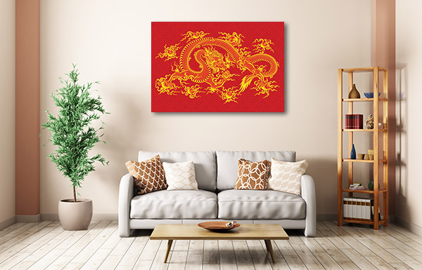 Red Chinese Dragon Canvas Prints