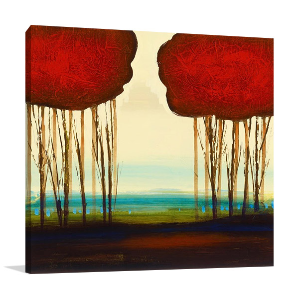 Red Duo 1 Wall Art Print