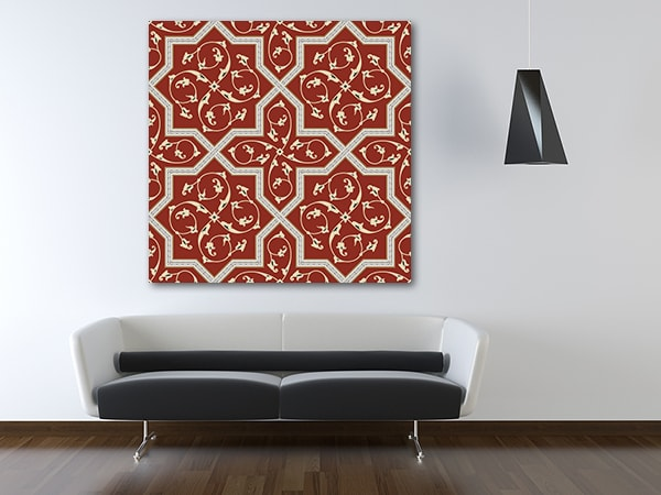 Red Floral Prints Canvas