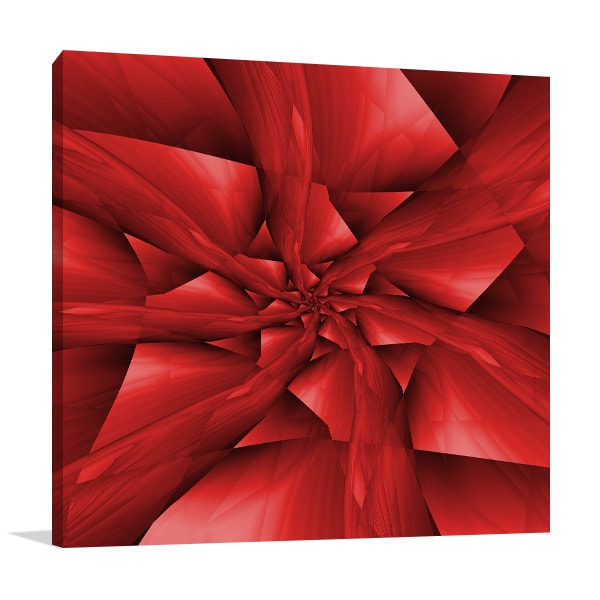 Red Flower Prints Canvas