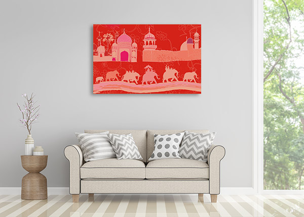 Red Indian Decor Canvas Prints
