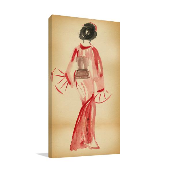 Red Kimono Art Prints