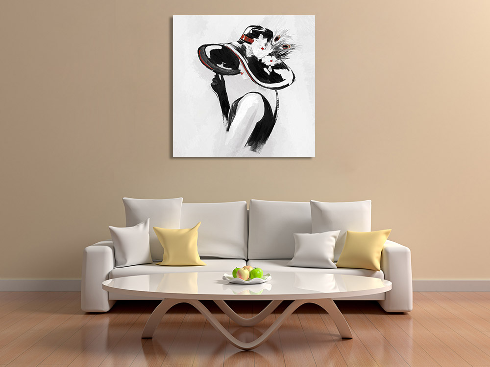 Figure Fashion Print on Canvas