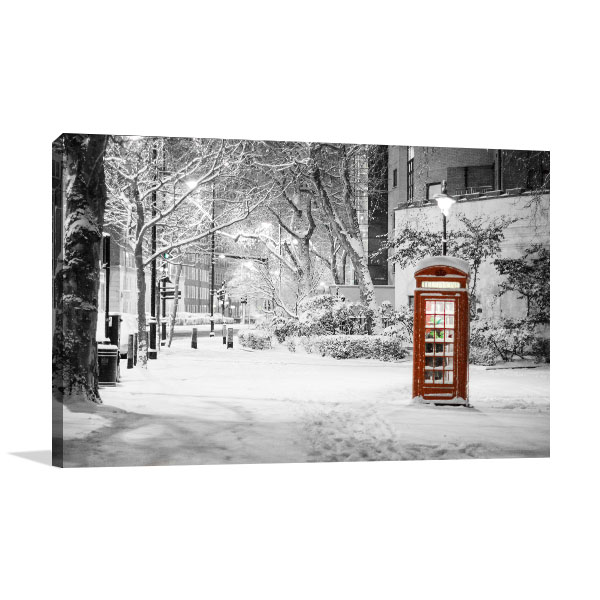 Red Phone Booth Wall Art