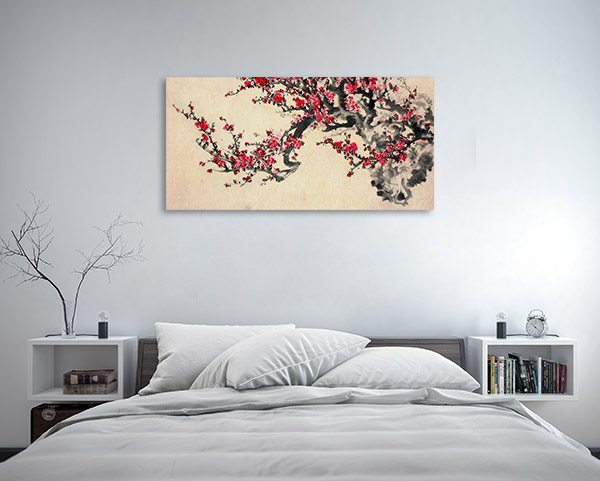 Red Plum Blossom Canvas Art Prints