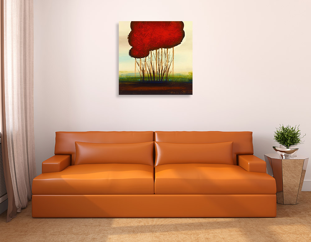 Red Brow Trees Canvas Print