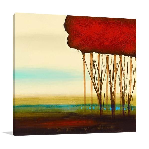 Red Solo II Canvas Print | Allen