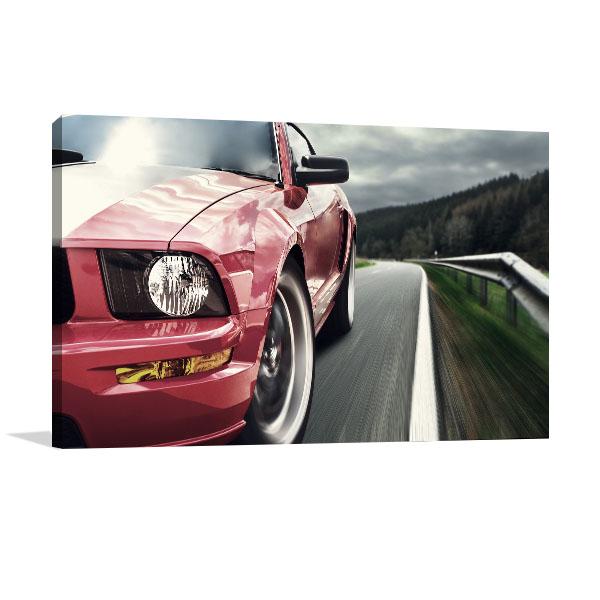 Red Sport Car Canvas Art Prints