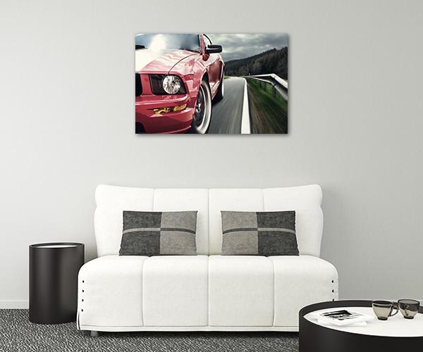 Red Sport Car Prints Canvas